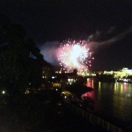 Fireworks over the Vlatava