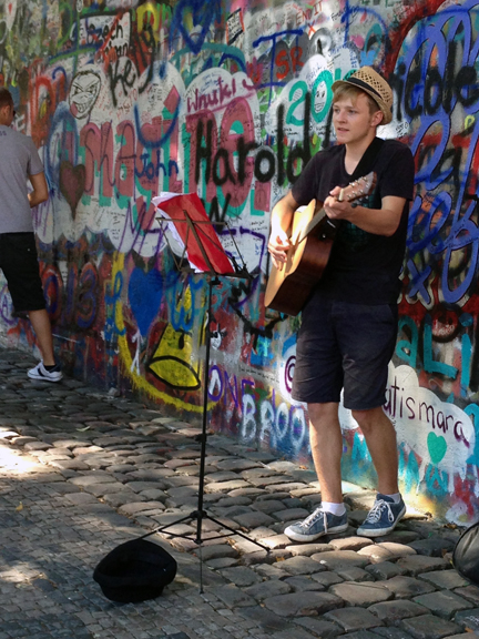 A young Czech singer shares his rendition of several Beatles songs.