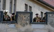 A brass quartet seranade on the Charles Bridge
