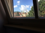 The view from my loft office space included Prague castle and more.