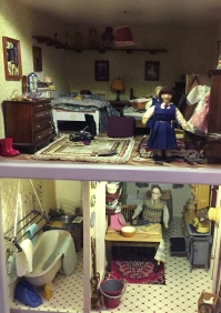 The owner of this house captured much of what she remembered as a child during WWII.