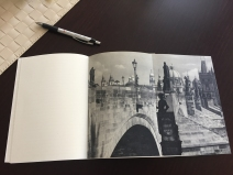 One of the trickier parts -- a foldout of Charles Bridge in 1984.